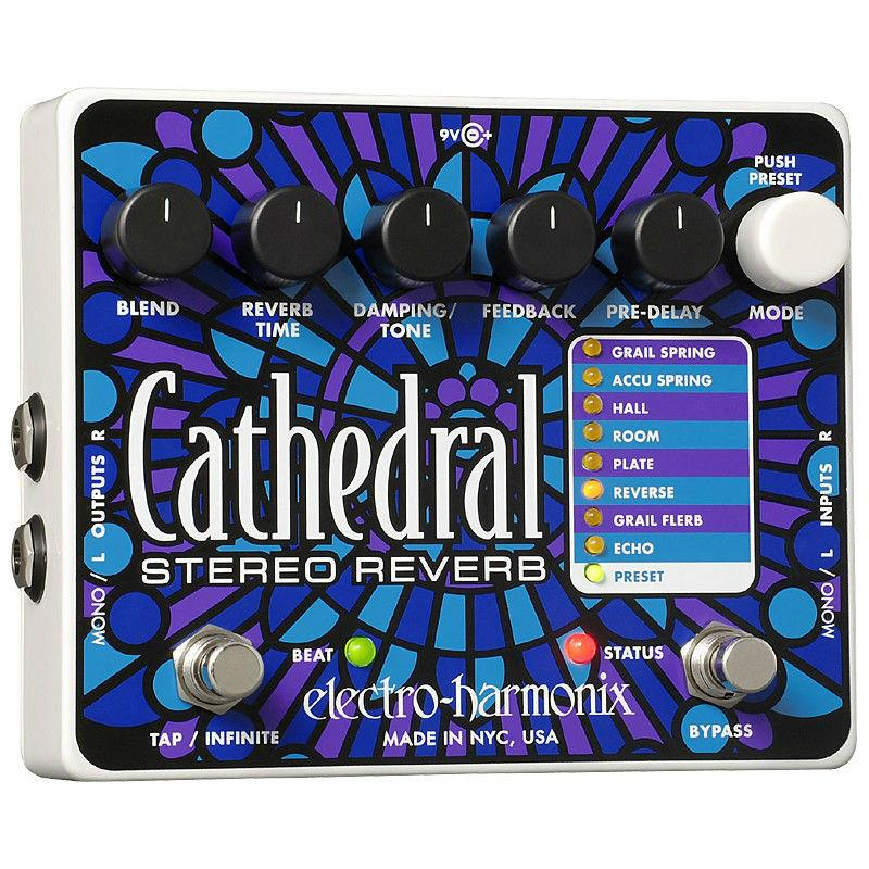 Electro Harmonix Cathedral Deluxe Reverb Guitar Effects Pedal - Music Junkie