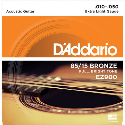 D'addario EZ900 American Bronze Acoustic Strings 10-50 - Music Junkie
