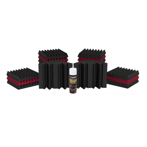 Universal Acoustics Mercury 1 Room Pack Burgundy and Charcoal - Music Junkie