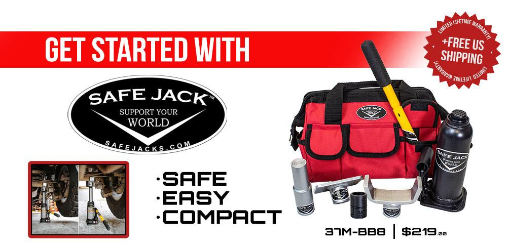 Starter Bottle Jack Recovery Kit with 6 Ton Bottle Jack