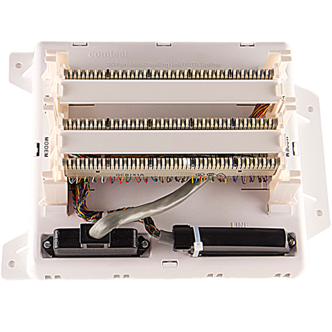 Multi-Dwelling 25-port Splitter with BIX Punchdowns