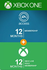 1 YEAR XBOX LIVE + EA ACCESS ACCOUNT