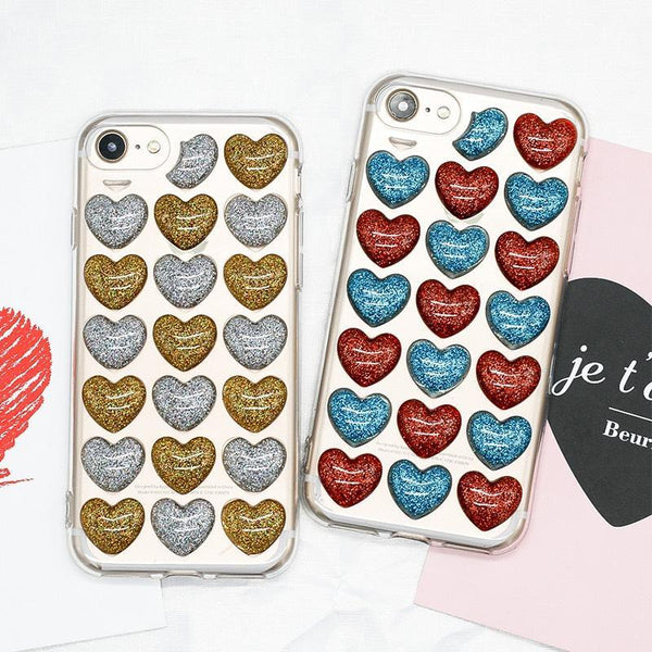 Colorful Hearts 3D