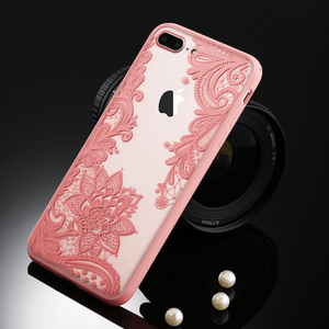 etui-iphone: Floral Pink