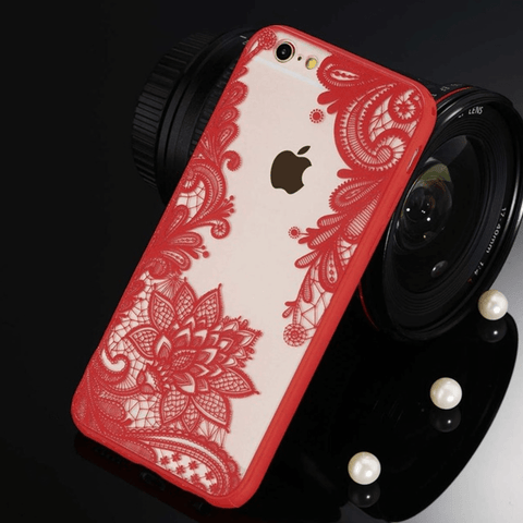 etui-iphone: Floral Red