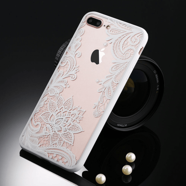etui-iphone: Floral White