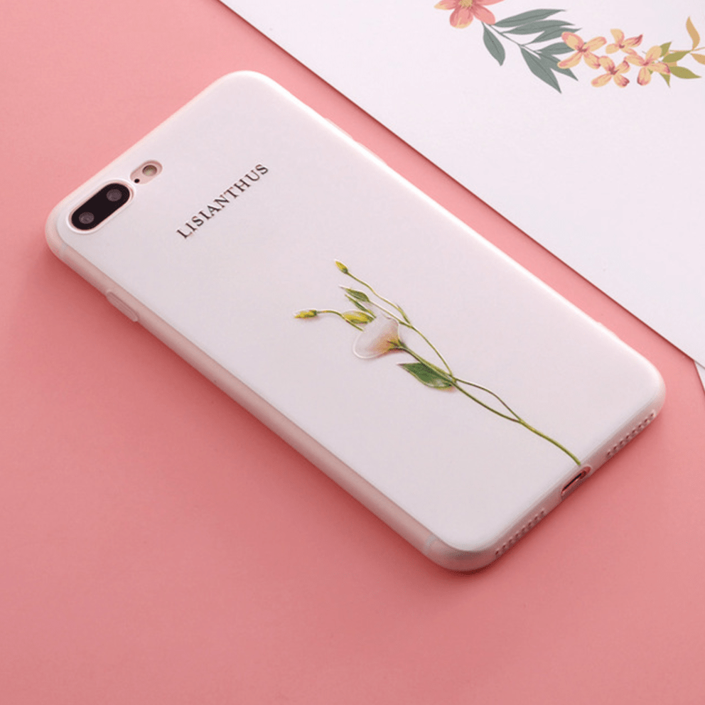 etui-iphone: Lisianthus