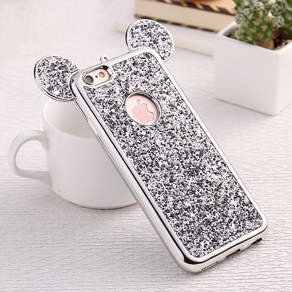 etui-iphone: Silver Mouse