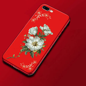 Diamond Flowers Red