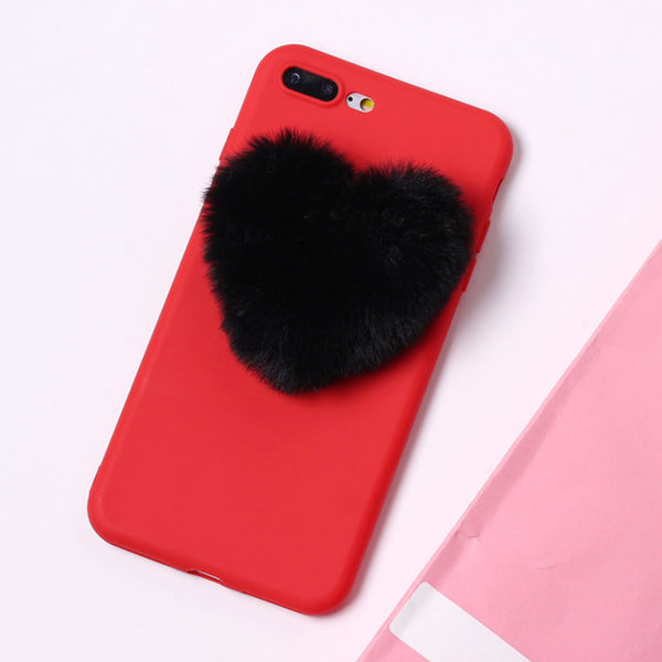 Fluffy Heart Red