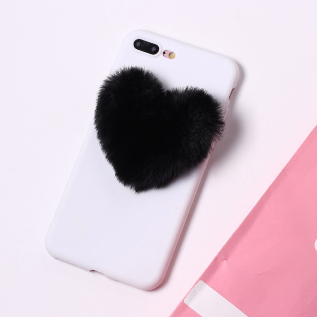 Fluffy Heart White