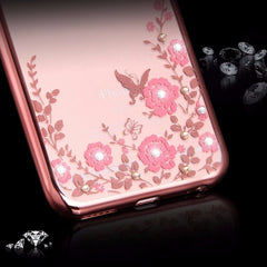 etui-iphone: Flower Bling Gold