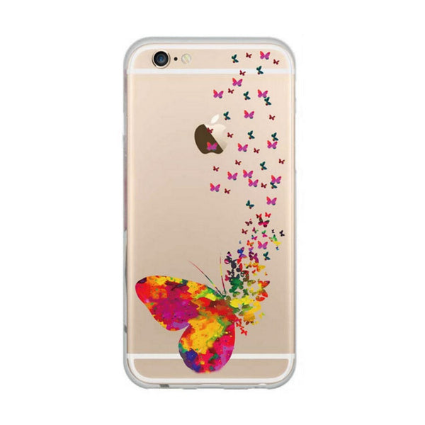 etui-iphone: Colorful Butterfly