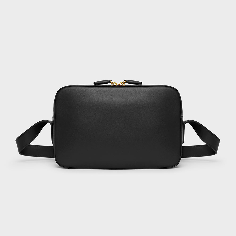 Camera Crossbody - No° F1 - Black Smooth Nappa