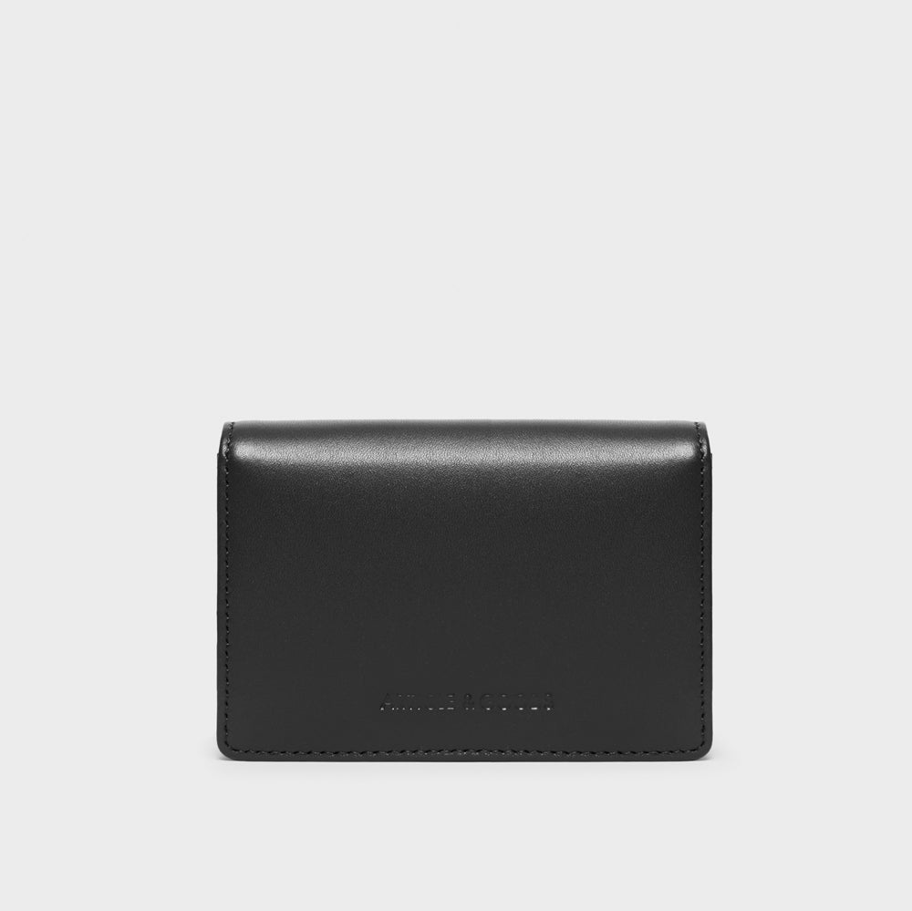 Card Holder - No° AA1 - Black Smooth Nappa