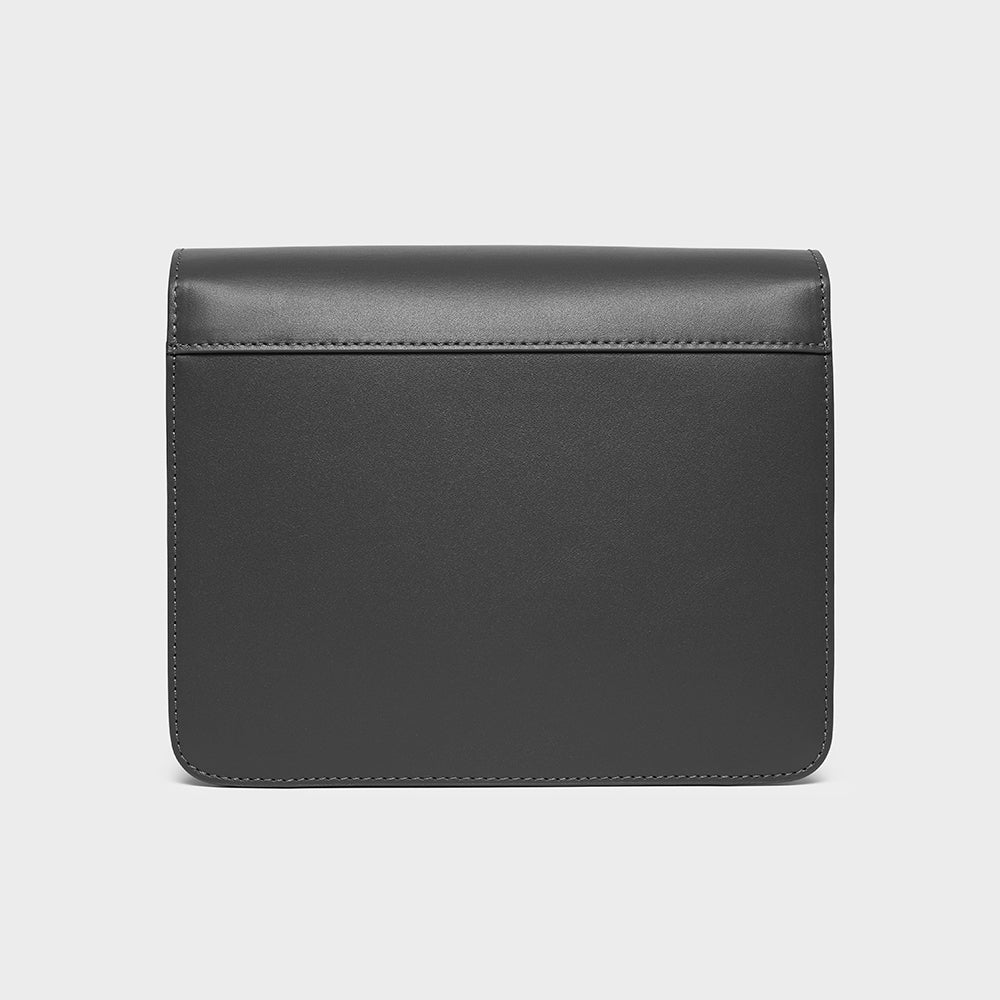 Flap Box Crossbody - No° N2 - Slate Gray Smooth Nappa