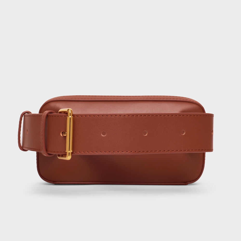 Mini Belt Bag - No° L3 - Mocha Brown Smooth Nappa