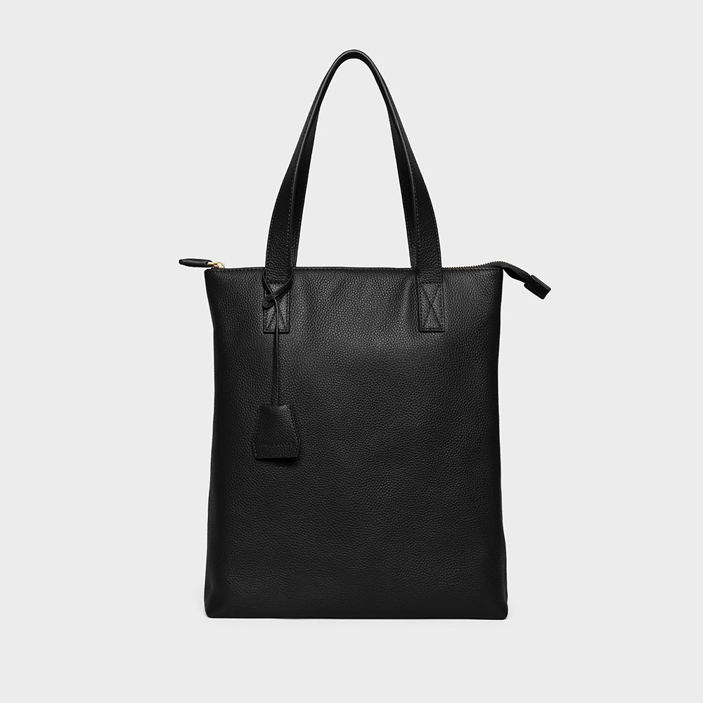 Modern Tote - No° A1 - Black Pebble Grain