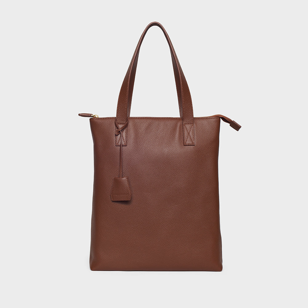Modern Tote - No° A4 - Dark Brown Pebble Grain