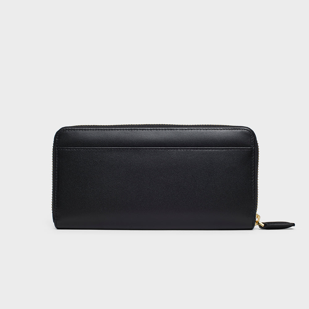 Organizer Long Zippy Wallet - No° KK1 - Black Smooth Nappa