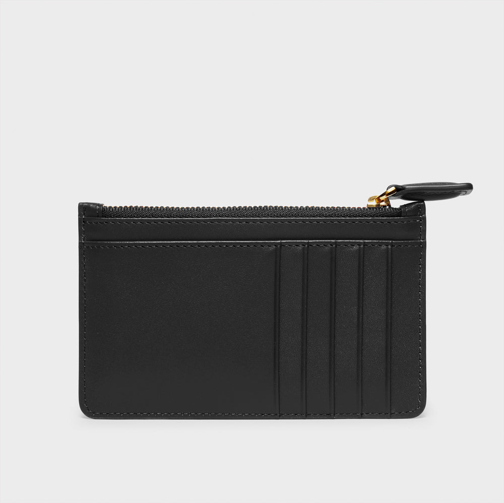 Slim Zippy Wallet - No° CC1 - Black Smooth Nappa