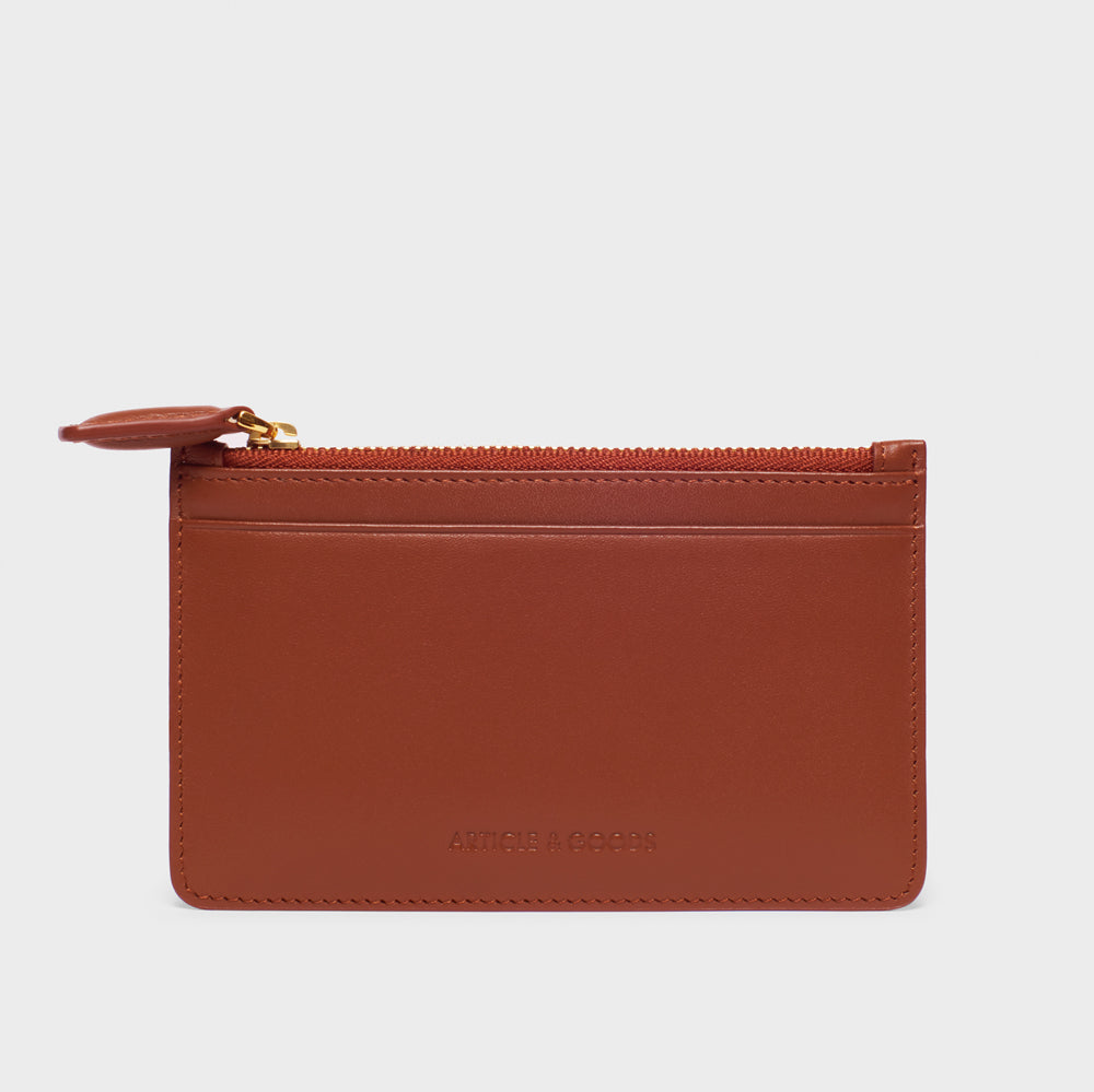 Slim Zippy Wallet - No° CC2 - Mocha Brown Smooth Nappa