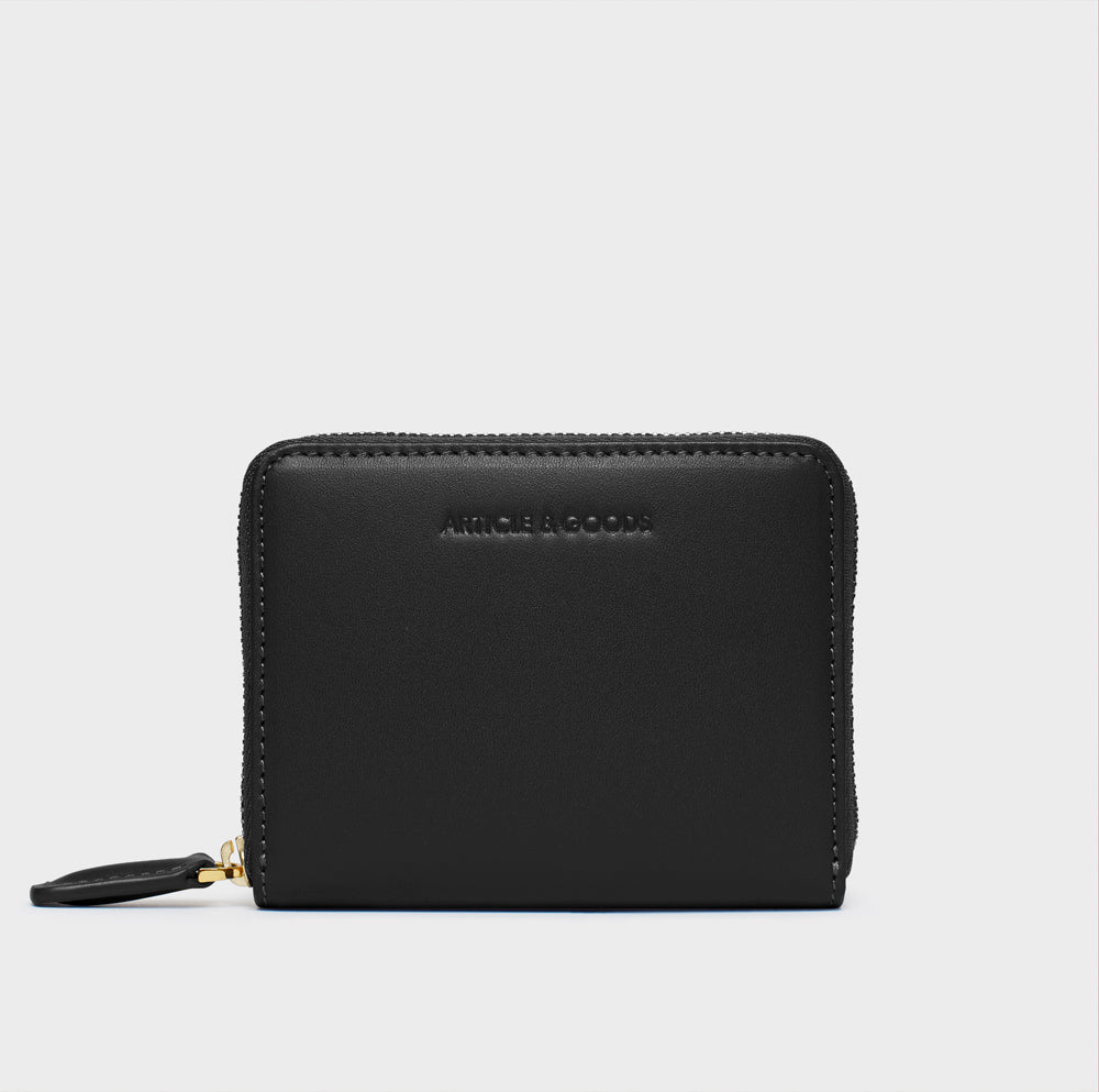 Small Zippy Wallet - No° BB1 - Black Smooth Nappa