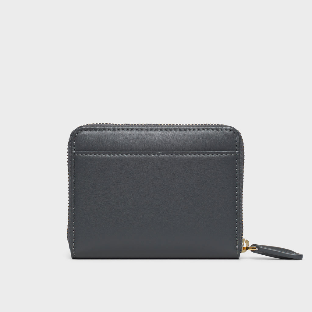 Small Zippy Wallet - No° BB3 - Slate Gray Smooth Nappa
