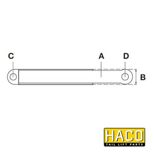 Lift Ram HACO to Suit Bar Cargolift 1PA118380 , Haco Tail Lift Parts - Bar Cargolift, Nationwide Trailer Parts Ltd - 2