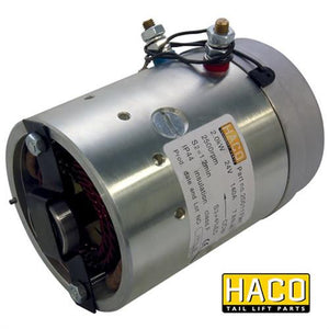 Motor 2kW 24V O F CCW HACO to Suit Zepro 31812 & Bar Cargo 101122169 , Haco Tail Lift Parts - HACO, Nationwide Trailer Parts Ltd