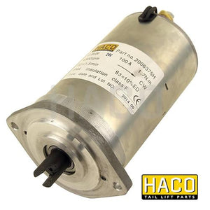 Haco Motor 0,8KW 24V Closed Female Clockwise. , Haco Tail Lift Parts - HACO, Nationwide Trailer Parts Ltd