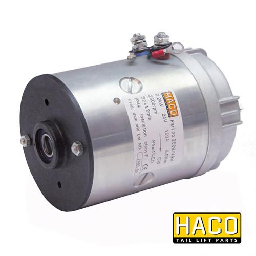 Motor 2.2kW 24V HACO to suit Bar Cargo 101139284 , Haco Tail Lift Parts - Bar Cargolift, Nationwide Trailer Parts Ltd