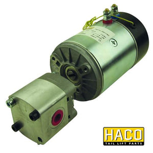 Motor 24V with pump HACO to suit Bar Cargo 1HA101175 , Haco Tail Lift Parts - Bar Cargolift, Nationwide Trailer Parts Ltd