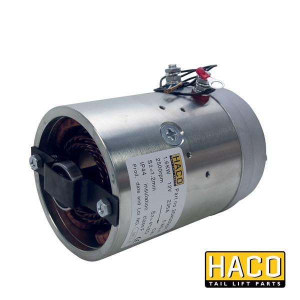 Motor 1,6kW 12V O F CW HACO to suit 4696-113-3