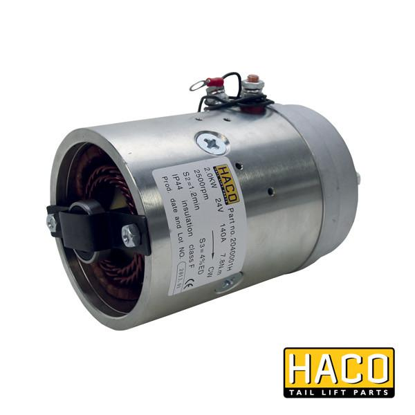 Motor 2kW 24V O F CW HACO to suit 4696-111-5