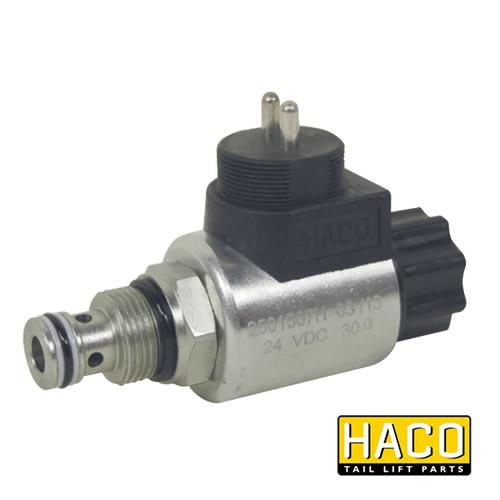 12v Solenoid valve complete HACO to Suit MBB Palfinger 1284466 , Haco Tail Lift Parts - HACO, Nationwide Trailer Parts Ltd