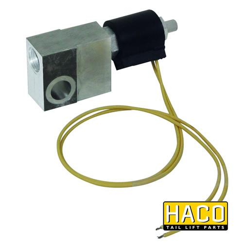 Valveblock + valve 24V HACO to suit 4697-075-7 , Haco Tail Lift Parts - HACO, Nationwide Trailer Parts Ltd