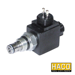 Solenoid valve Single Acting 24V HACO with costal M24 to suit V036 , Haco Tail Lift Parts - Dhollandia, Nationwide Trailer Parts Ltd
