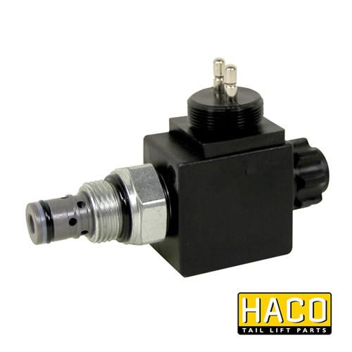 Solenoid valve Single Acting 12V HACO with costal M24 to suit V037