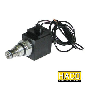 Solenoid valve cable connection HACO 12V to suit V037.K , Haco Tail Lift Parts - Dhollandia, Nationwide Trailer Parts Ltd