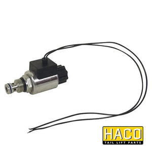 Solenoid valve HACO 12V to suit V042.HK , Haco Tail Lift Parts - Dhollandia, Nationwide Trailer Parts Ltd - 1