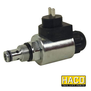 Solenoid valve HACO 12V to suit V072.H , Haco Tail Lift Parts - Dhollandia, Nationwide Trailer Parts Ltd - 1
