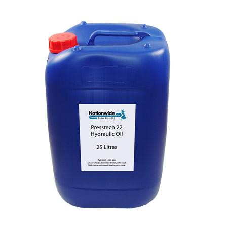 Tail Lift Hydraulic Oil - VG22 Grade (25 Litres) , Tail Lift Oil & Chain Lubricant - Nationwide Trailer Parts, Nationwide Trailer Parts Ltd