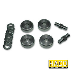 HACO Runner Roller Kit (70mm) to suit 4101-227-9 , Haco Tail Lift Parts - HACO, Nationwide Trailer Parts Ltd - 1