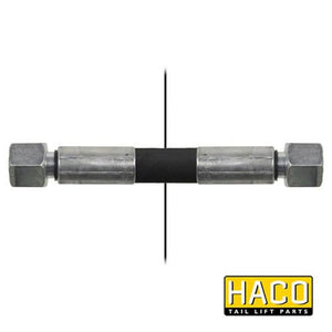 680mm Length Hose HACO to suit Bar Cargo 101109141 , Haco Tail Lift Parts - Bar Cargolift, Nationwide Trailer Parts Ltd