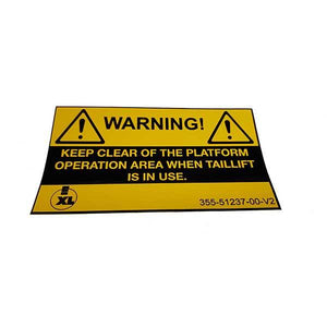 Warning Keep Clear Sticker