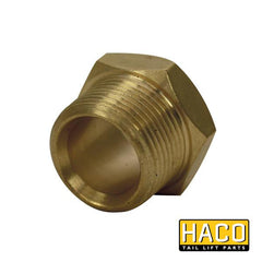 Tube nut HACO to suit 2481-001-4 , Haco Tail Lift Parts - HACO, Nationwide Trailer Parts Ltd