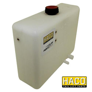 Oil Tank Right 6L - 300mm HACO to suit Dhollandia M3000 , Haco Tail Lift Parts - HACO, Nationwide Trailer Parts Ltd