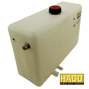 Oil Tank Left 10L - 350mm HACO to suit Dhollandia M0401 , Haco Tail Lift Parts - HACO, Nationwide Trailer Parts Ltd