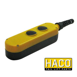 Control box 2-button DM HACO to suit 2651-041-7 , Haco Tail Lift Parts - HACO, Nationwide Trailer Parts Ltd